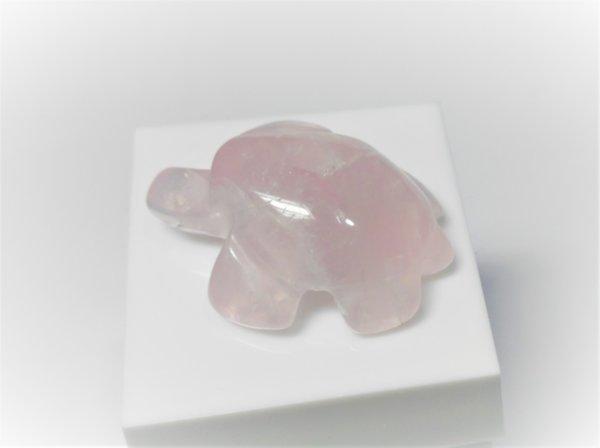 Костенурка от розов кварц